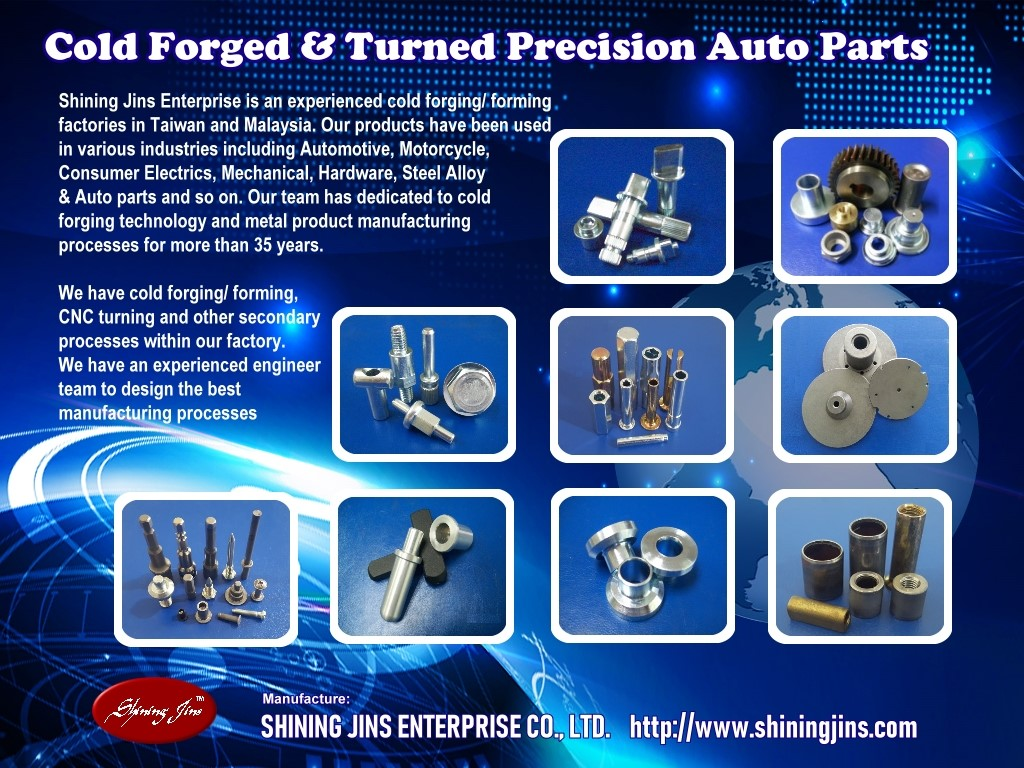 Fasteners and Bolts - Cold Forging And Precision Machining Parts made in Taiwan