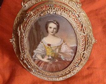 Rare! 1700s STUDY Potraites Antique Art ! Singed!!