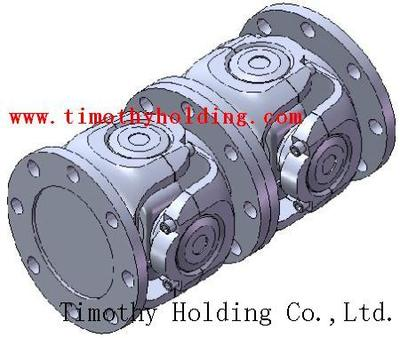 Universal joint shaft for ladle cranes