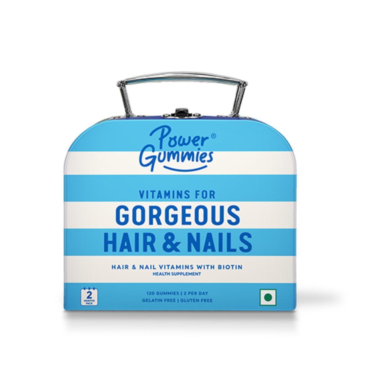 Power Gummies – Gorgeous Hair & Nails Vitamin Gummies | 2 Month Pack