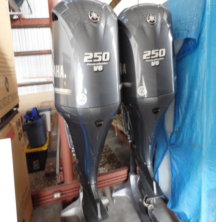 Slightly Used Yamaha F250CXA, 250HP 4 Stroke Outboard Motor Engine