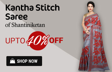 Buy Exclusive Kantha Stitch Sarees Online | Upto 40% Off
